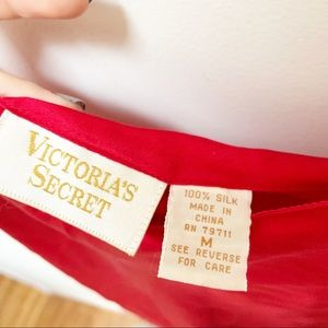 Victoria's Secret Intimates & Sleepwear - Victoria Secret 100% silk red chemises M